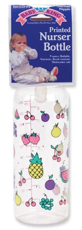 Baby King 9 Oz. Printed Nurser Bottle BPA Free