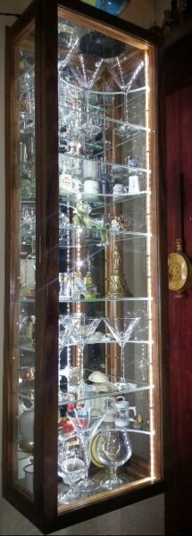 """Glass Display"""" Ornaments and Collectibles Display /Show Cabinet with Unrestricted view, Dust Proof !"""