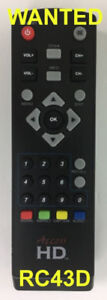 Want: RC43D remote for ACCESS DTA1030 OTA adapter TV box