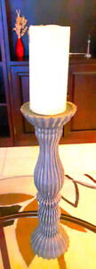 Stylish grey colored candle stand