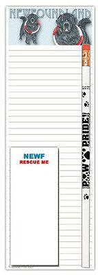 Newfoundland Dog Notepads To Do List Pad Pencil Gift Set