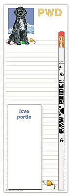 Portuguese Water Dog Notepads To Do List Pad Pencil Gift Set