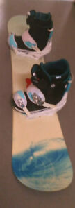 Ladies snowboard set, or separtely boots(size8) and board (154cm