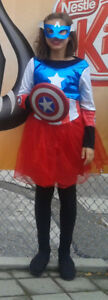 Female Captain America Costume YL
