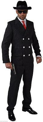 30er Jahre Kostüm (Gangster Anzug Kostüm Mafia 20 er 30 er Jahre Al Capone Ganove Gangsterkostüm)