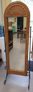 Wicker and Metal Mirror - Free Delivery to Kamloops