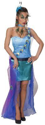 Karneval Damen Kostüm Pfau Kleid als stolzer Vogel an Fasching
