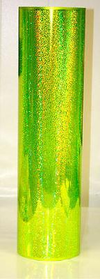 Fluorescent Yellow Sequin Sign Vinyl 24 X 6 Ft