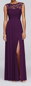 Evening gown / dress size 12 tall purple/plum