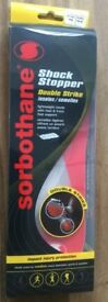 Brand new amazing Double Strike Sorbothane insoles in box size 10