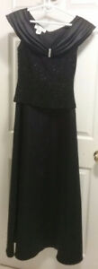 Full length Black Evening Dress Size Small