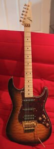 Tom Anderson Drop Top Classic Quilted Maple Tobacco Sunburst