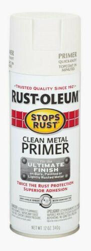 Rust-Oleum CLEAN METAL PRIMER 12 oz. Spray Stops Rust WHITE Oil-Based 7780-830