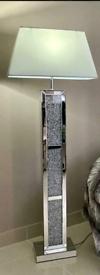 Crushed diamond mirrored floor lamp