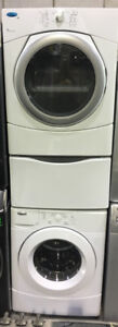 Whirlpool white front load washer & dryer PRICE $899
