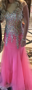 PINK CRYSTAL GOWN
