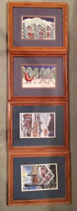 Cori Ross Canadian Artist Picture LOT set of 4