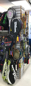 Used tennis racquet racket racquet racquets many with new grips