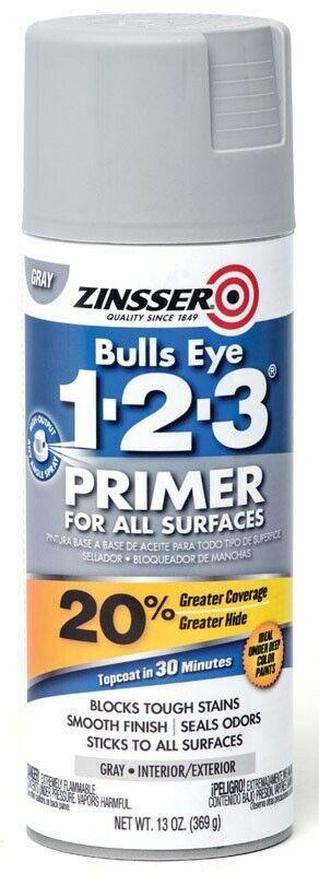 Zinsser 1583608 13 oz Water-Based Interior & Exterior Primer Grey