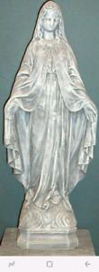 Concrete cement garden statue Virgin Mary