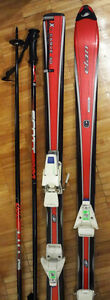 ELAN X-CARVE 3.0 PARABOLIC SKIS/ SALOMON BINDINGS/ POLES/ BAG