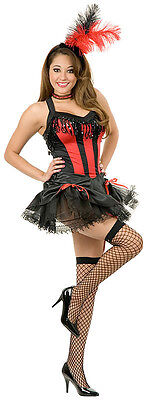 Show Girl Saloon Western Can Can Dancer Fancy Dress Up Halloween Adult Costume