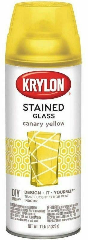 Krylon Stained Glass Spray Paint Translucent  11.5 oz Canary Yellow