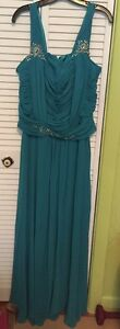 Nox Anabel Long Teal Dress size 2X for wedding prom