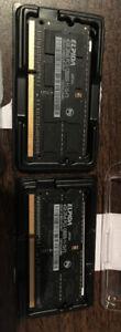 mémoire  ordi 2X 4Go DDR3 SO-DIMM  PC3-12800 (1600Mhz  204 pin)