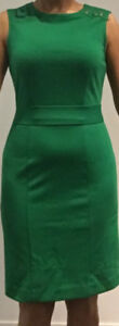 Banana Republic Green Fitted Dress