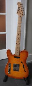 Guitare NRJ Telecaster gauchère, left handed, lefty,LH.