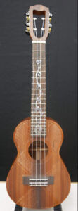PROFESSIONAL Concert Ukulele with engraved top and ornate inlays