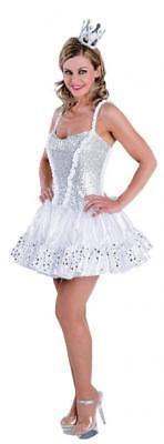 Eisprinzessin Eis Kleid Kostüm Engelkleid Damen Prinzessinkostüm (Engel Prinzessin Kostüm)