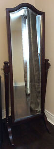Bombay bevelled standing mirror