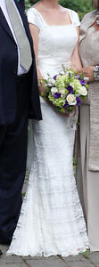 Ivory Satin and Lace Wedding Dress & Bolero Kitchener / Waterloo Kitchener Area image 5