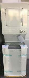 """NEW Whirlpool 1.5 cu. ft 24"""" stacked washer dryer combo $1199"""