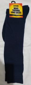 One PAIRS MENS -THERMAL LONG SOCKS-TOASTIES-SIZE 7~11,COLOUR BLACKRR