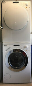 Miele Stacking Washer and Dryer NEW