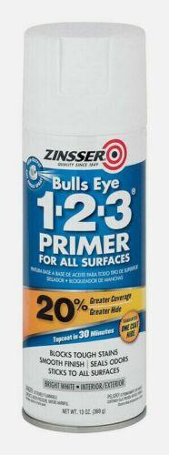 Zinsser BULLSEYE 1-2-3 PRIMER 13 oz. All Surfaces BRIGHT WHITE Oil-Based 02008