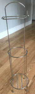 **METAL STAND-UP TOILET PAPER HOLDER FOR SALE**