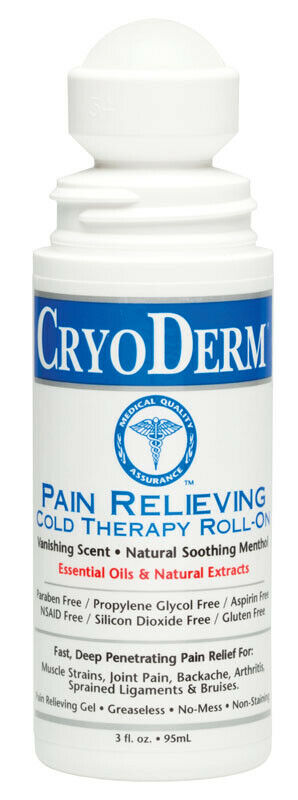 CRYODERM CRYOTHERAPY Roll-On, Gel, or Spray with MSM, Arnica
