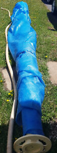 27 ft Round Solar Cover and reel