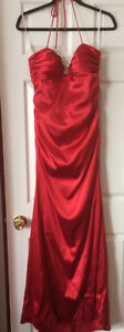 Red Halter Prom/Evening Gown