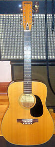 Mansfield acoustic vintage 12 string guitar, excellent condition