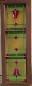 """40"""" x 14"""" Stained Glass Window in Frame"""