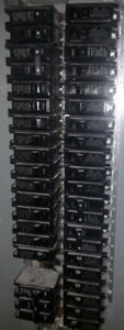 Federal Pioneer 3 Pole 225A Panel and assorted 15A & 20A Breaker