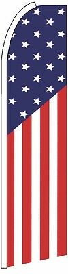 Feather Flutter Swooper Banner Sign 11.5 Tall Flag- Usa Us America-on Sale