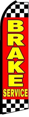 BRAKE SERVICE Red Yellow Checkered Auto Repair Swooper Flag Feather Flutter Sign