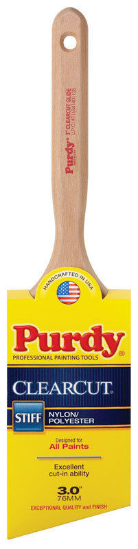 Purdy  Clearcut Glide  3 in. W Angle  Nylon Polyester  Trim Paint Brush