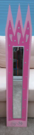 Girl's pink mirror - tall, hand made